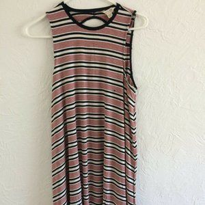 American Eagle Soft & Sexy Tank Dress - Red Stripe